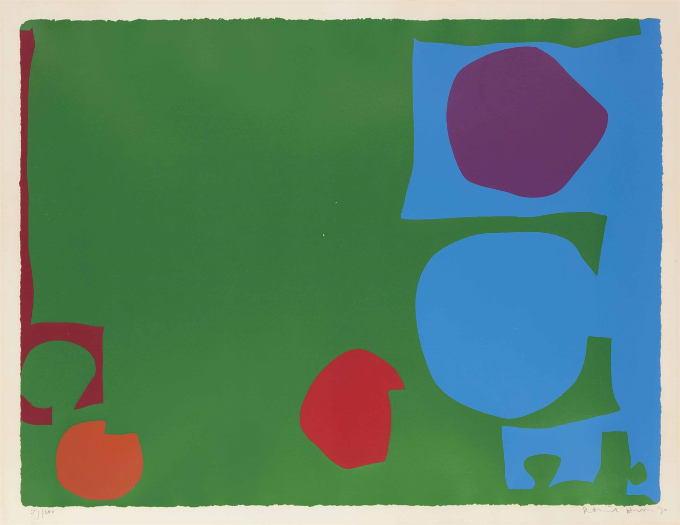 Patrick Heron-Three Reds in Green and Magenta in Blue-1970