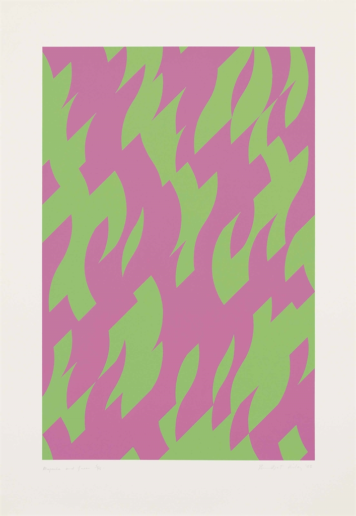 Bridget Riley-Magenta and Green-2002