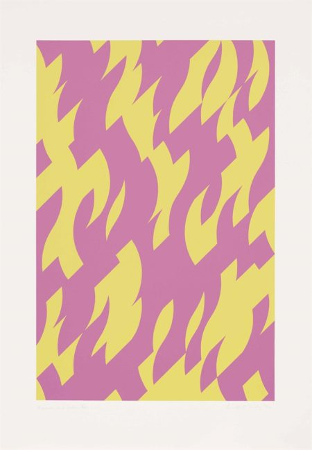 Bridget Riley-Magenta and Yellow-2002