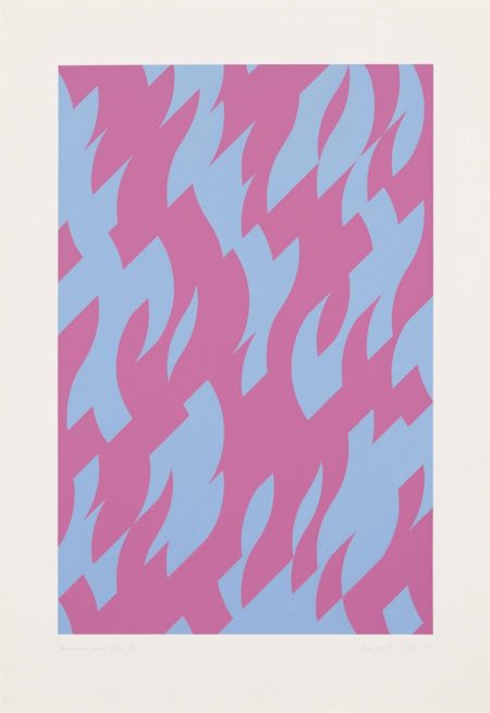 Bridget Riley-Magenta and Blue-2002