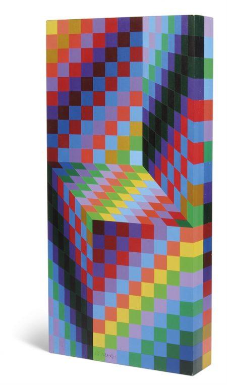 Victor Vasarely-Axo 99-1988