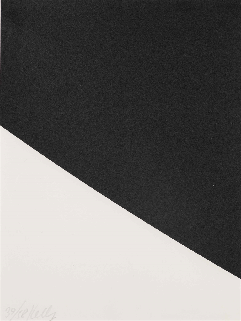 Ellsworth Kelly-Blue Curve (Black State) (Axsom 284; Gemini 28.229)-2000