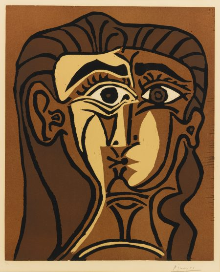 Pablo Picasso-Portrait De Jacqueline De Face. II (Tete De Femme) (B. 1063; Ba. 1280)-1962