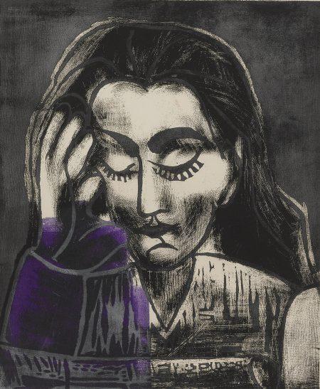 Pablo Picasso-Jacqueline Lisant (B. 1181; Ba. 1292 And Ba. 1294)-1962