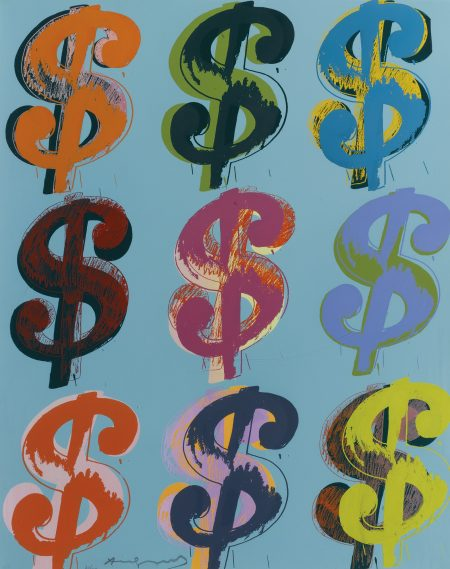 Andy Warhol-$ (9) (See F. & S. II.285 - 286)-1982