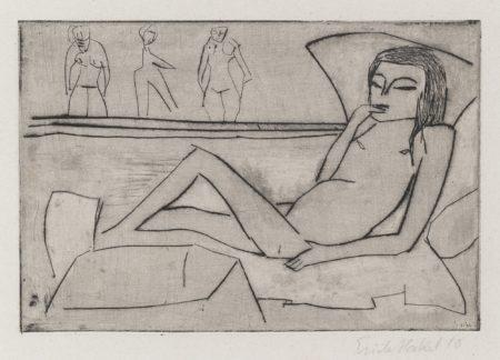 Erich Heckel-Liegendes Kind (DubeV.II 79A)-1910
