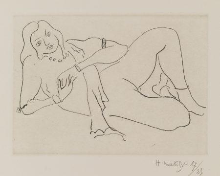 Henri Matisse-Nu Couche S'Appuyant Sur Le Bras Droit (D. 195)-1929