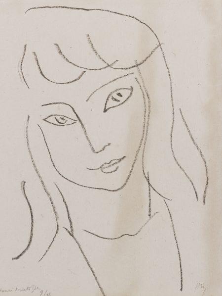 Henri Matisse-Fillette (D. 561)-1944