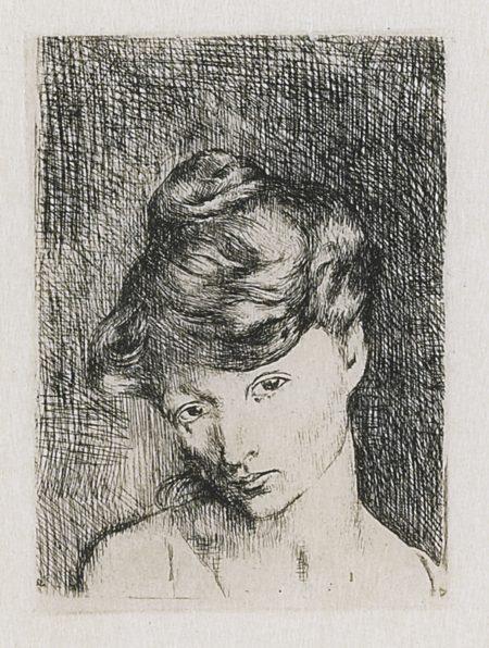Pablo Picasso-Tete De Femme: Madeleine (B. 2; Ba. 3)-1905