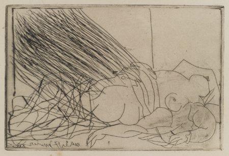 Pablo Picasso-Femme Nue Couchee (B. 273; Ba. 403)-1934
