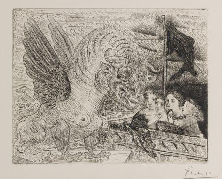 Pablo Picasso-Taureau Aile Contruple Par Quatre Enfants (B. 229; Ba. 444)-1934
