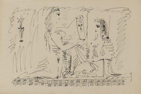 Pablo Picasso-Femme Au Miroir (M. 197)-1950