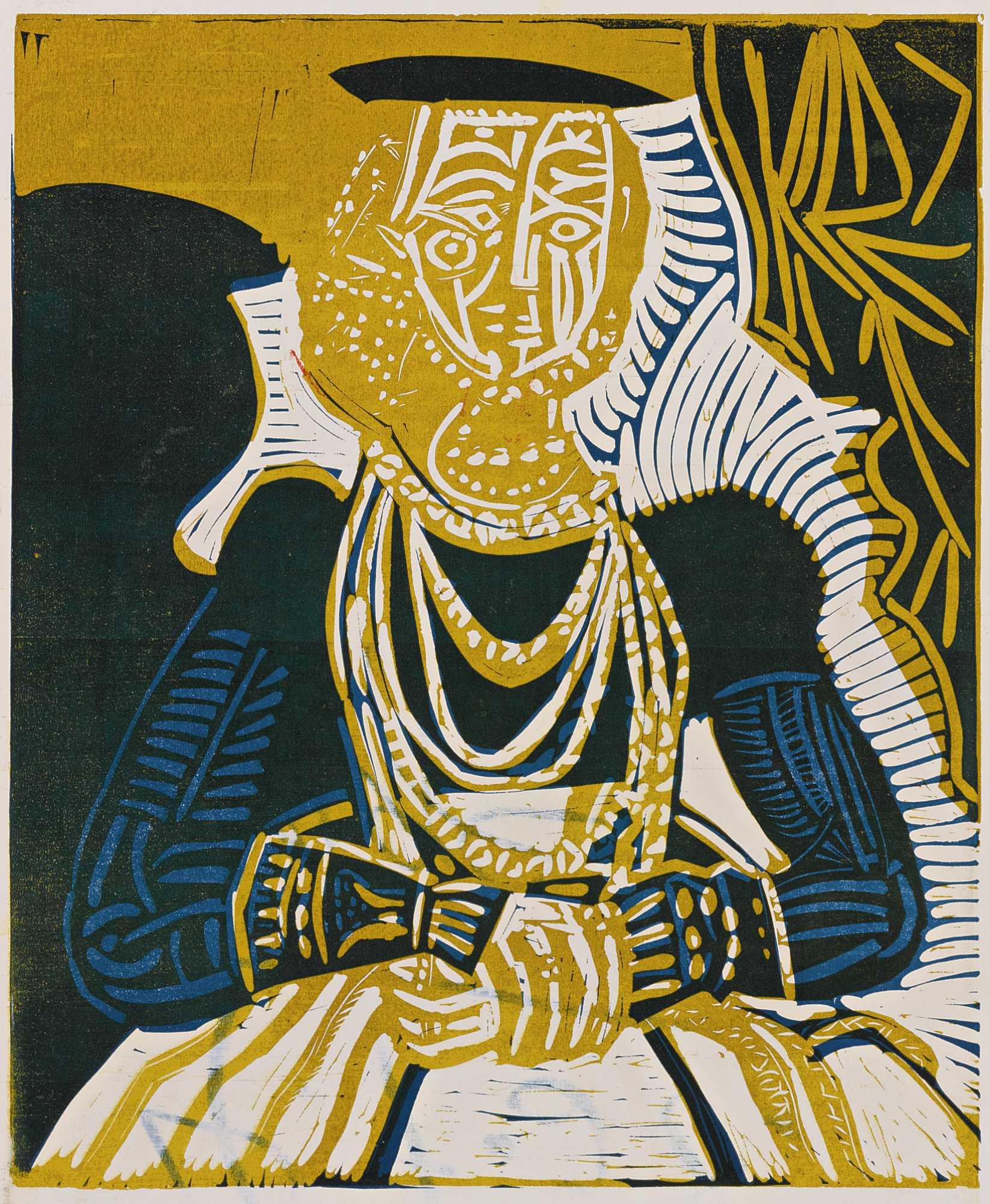 Pablo Picasso-Portrait De Jeune Fille D'Apres Cranach Le Jeune. II (B. 859; Ba. 1053)-1958