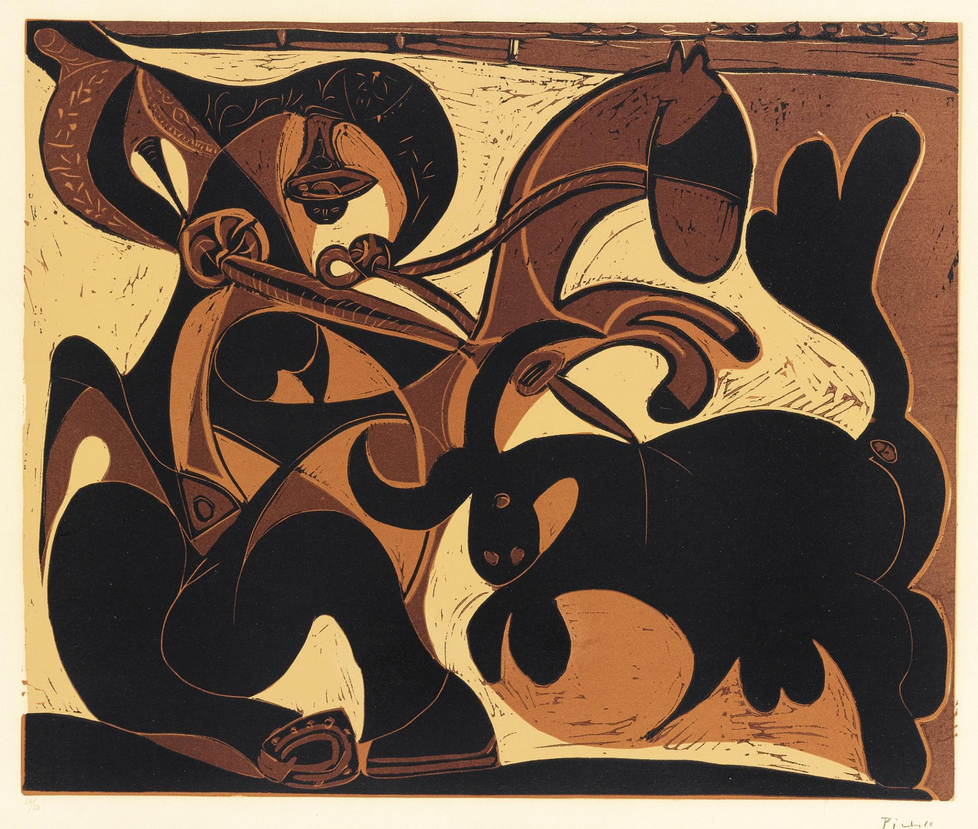 Picador Et Taureau (Pique) (B. 911; Ba. 1229)-1959