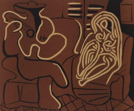 Pablo Picasso-L'Aubade Avec Femme Dans Un Fauteuil (Femme Dans Un Fauteuil Et Guitariste) (B. 917; Ba. 1232)-1959