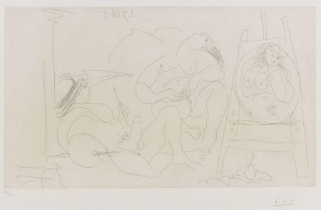 Pablo Picasso-Raphael Et La Fornarina. Vi: Enfin Seuls! (B. 1781; Ba. 1798)-1968