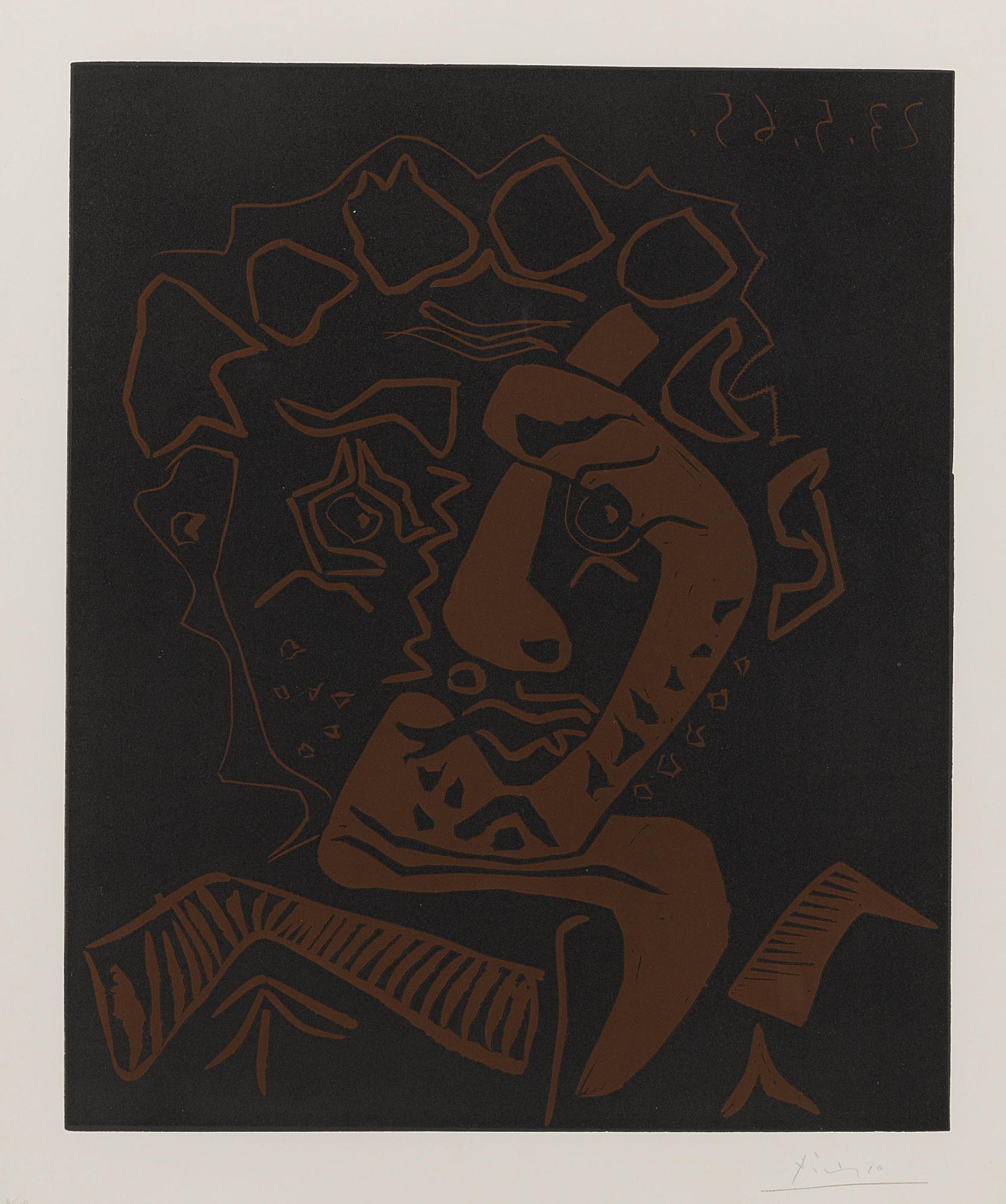 Pablo Picasso-Tete D'Histrion (Le Danseur)(B. 1849; Ba. 1360)-1965
