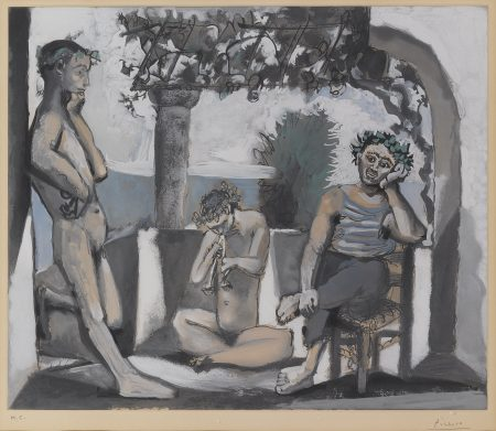Pablo Picasso-After Pablo Picasso - Bacchanale-1955