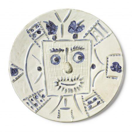 Pablo Picasso-Visage Dans Un Carre (A. R. 354)-1956