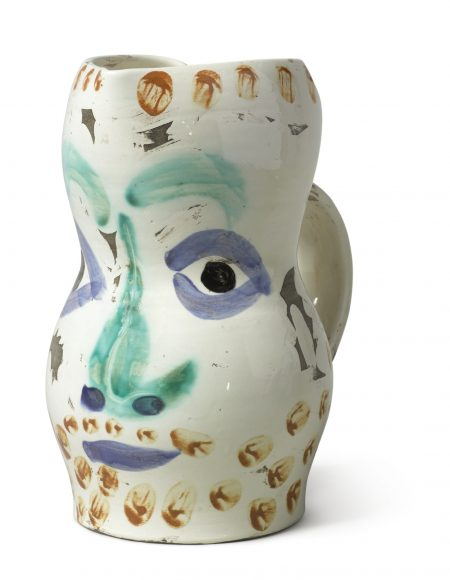 Pablo Picasso-Visage Aux Points (A. R. 610)-1969