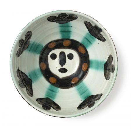 Pablo Picasso-Visage (A. R. 290): 3 Ceramics-1955