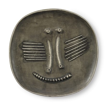 Pablo Picasso-Visage Au Nez Pince (A. R. 440)-1959