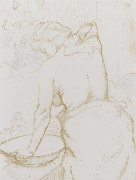 Henri de Toulouse-Lautrec-Femme Qui Se Lave - La Toilette (D. 184; Adr. 176; W. 160)-1896