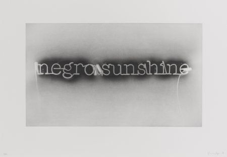 Glenn Ligon-Warm Broad Glow (Reversed)-
