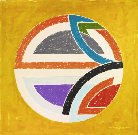 Frank Stella-Sinjerli Variation Squared With Colored Ground Ia (Axsom 130)-1981