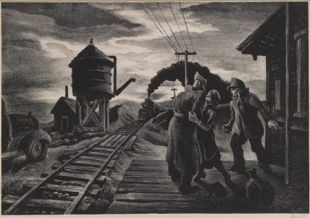 Thomas Hart Benton-Morning Train (Soldier'S Farewell) (F. 58)-1953