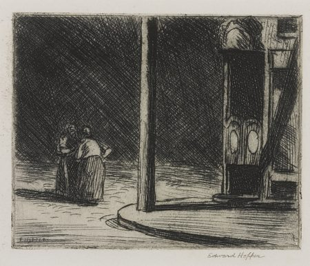 Edward Hopper-A Corner (Zigrosser 5; Levin 60)-1919