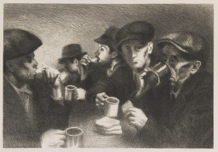 Raphael Soyer-The Mission (Cole 27)-1933