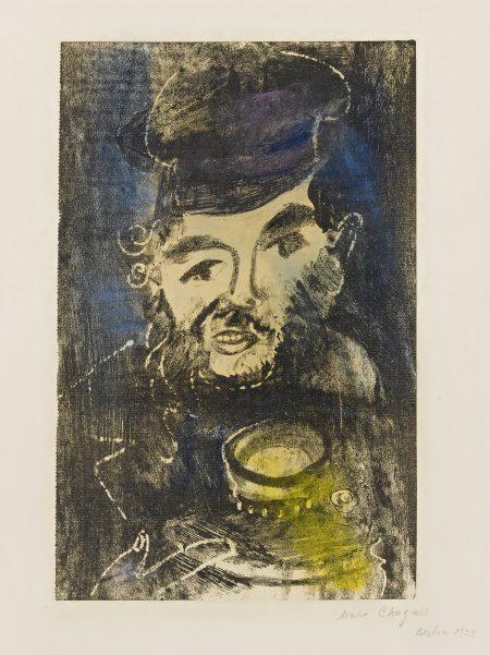 Marc Chagall-Man With Samovar (M. 4)-1923