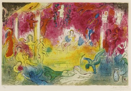 Marc Chagall-Temple And The History Of Bacchus (M. 346)-1961
