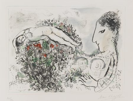 Marc Chagall-Small Nude (M. 634)-1971
