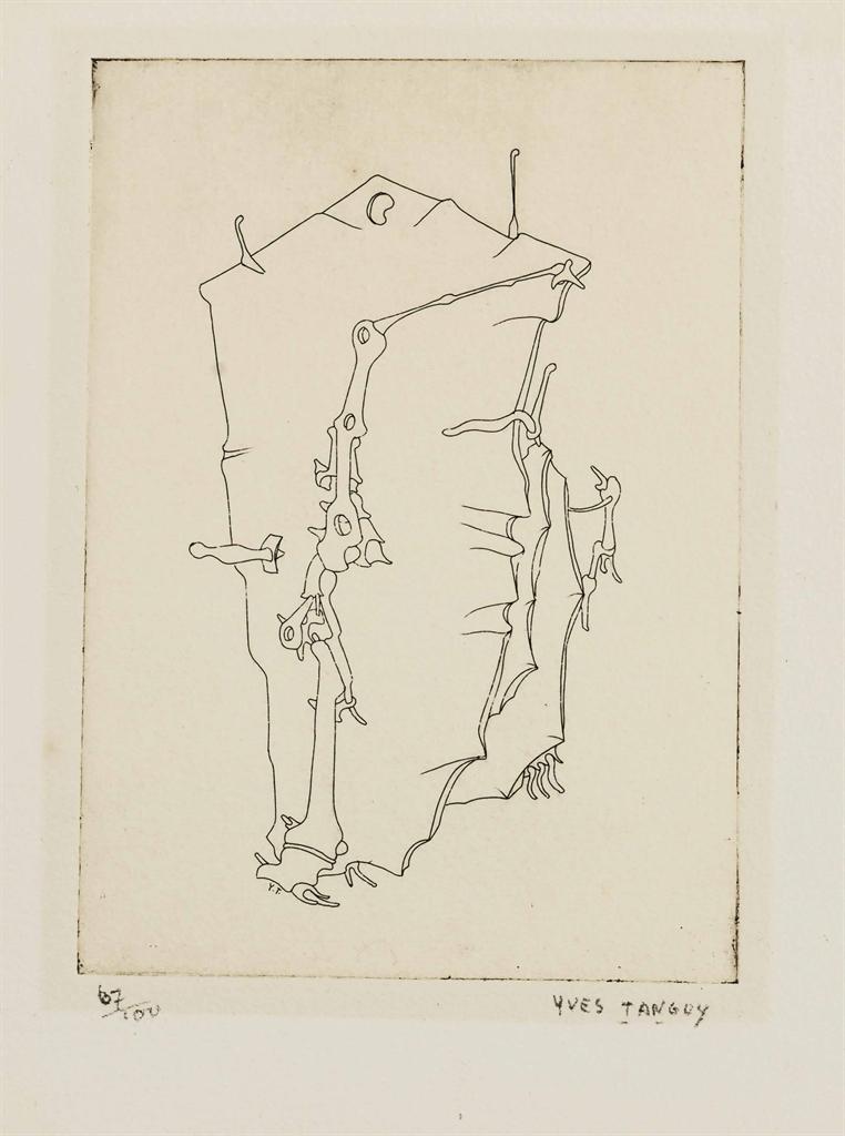 Yves Tanguy-Plate I, from Ivan Goll La Mythe de la roche percee-1947