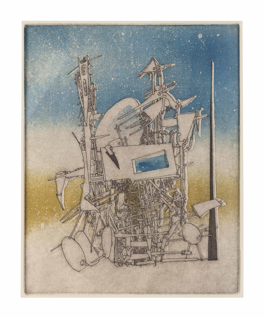 Yves Tanguy-Untitled, from Jean Laude Le Grand passage-1954