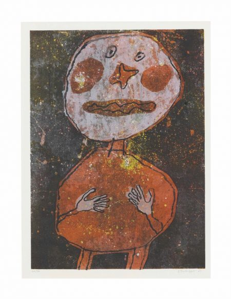 Jean Dubuffet-Personnage au Costume Rouge-1961