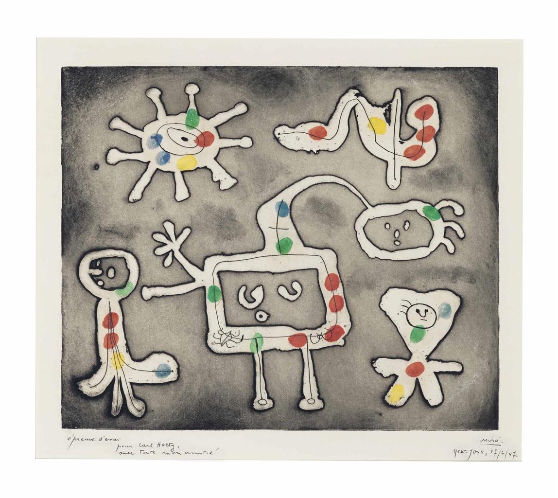 Joan Miro-Serie I: one plate-1947