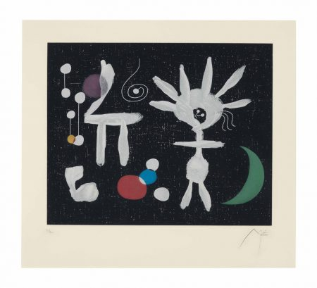 Joan Miro-After Joan Miro - Rose Matinale au clair de la Lune-1958
