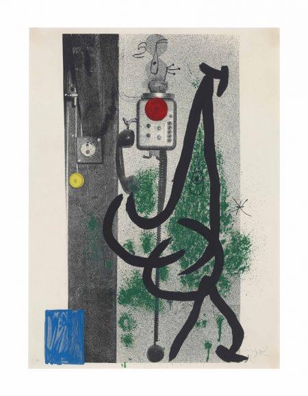 Joan Miro-La Demoiselle au Telephone-1971