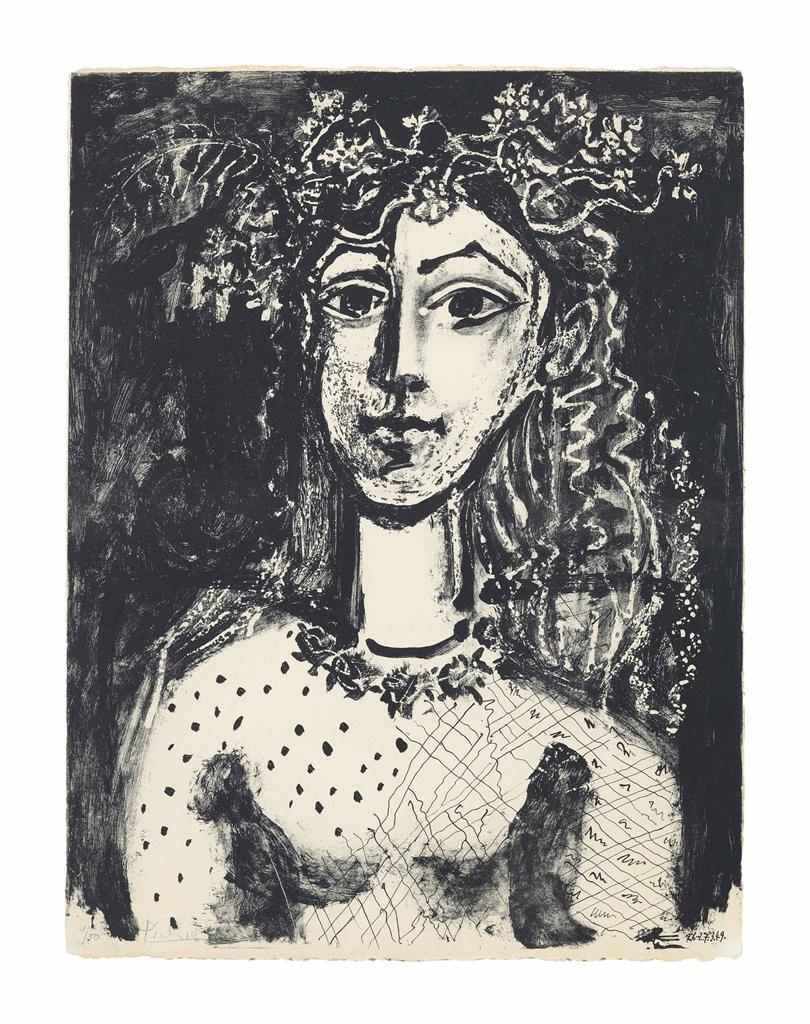 Pablo Picasso-Jeune fille inspiree par Cranach-1949