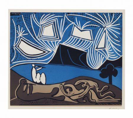 Pablo Picasso-Bacchanale avec chevreau et spectacular-1959