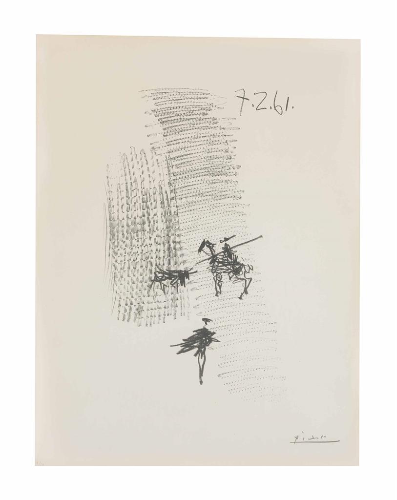 Pablo Picasso-Corrida-1961