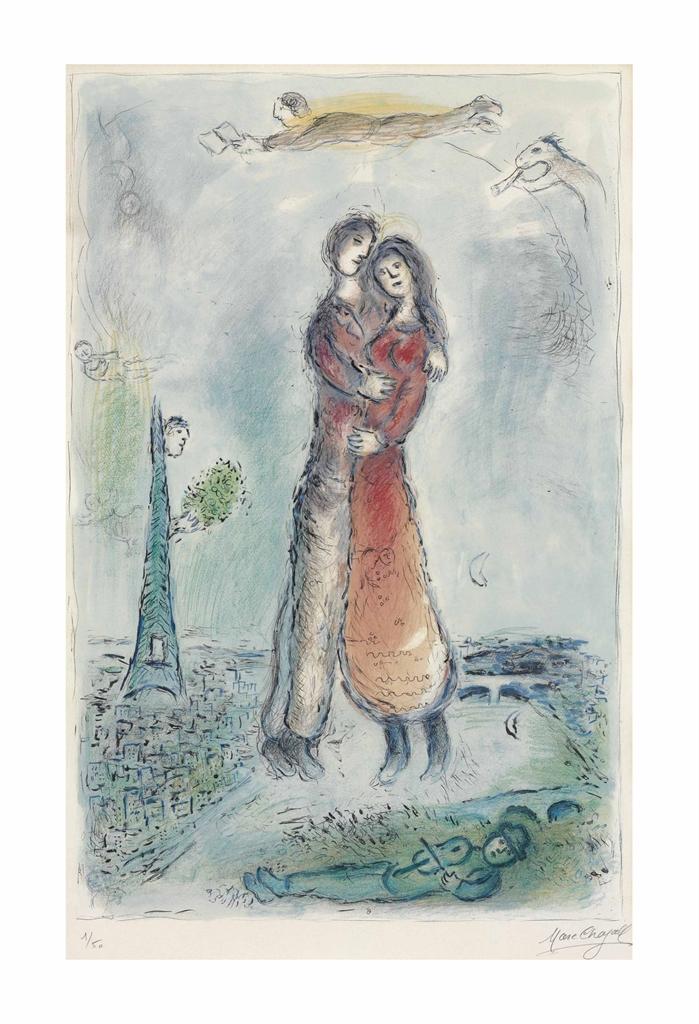 Marc Chagall-La Joie-1980
