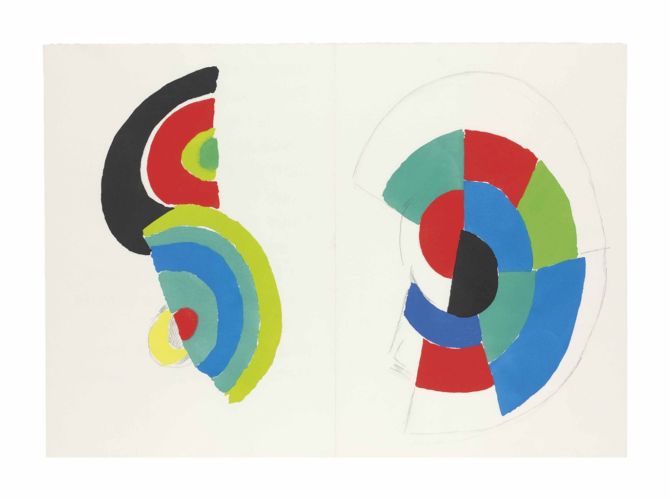 Sonia Delaunay-Arthur Rimbaud, Les Illuminations, Jacques Damase, Paris, 1973-1973