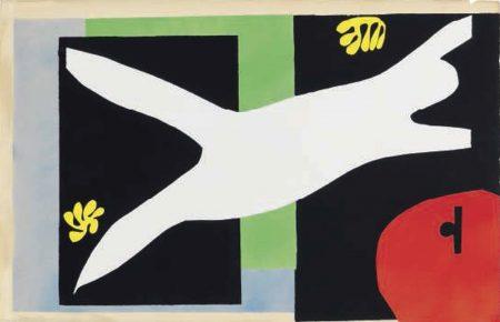 Henri Matisse-La nageuse dans l'aquarium, from Jazz-1947