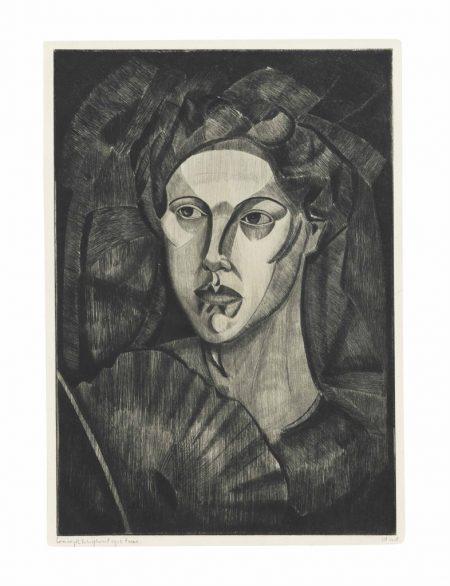 Lodewijk Schelfhout-Tete de femme I-1912