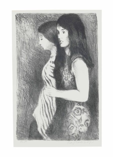 Raphael Soyer-[Two Girls]-