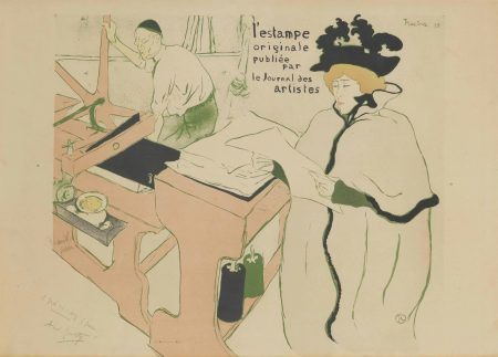 Henri de Toulouse-Lautrec-Couverture de L'Estampe Originale-1893